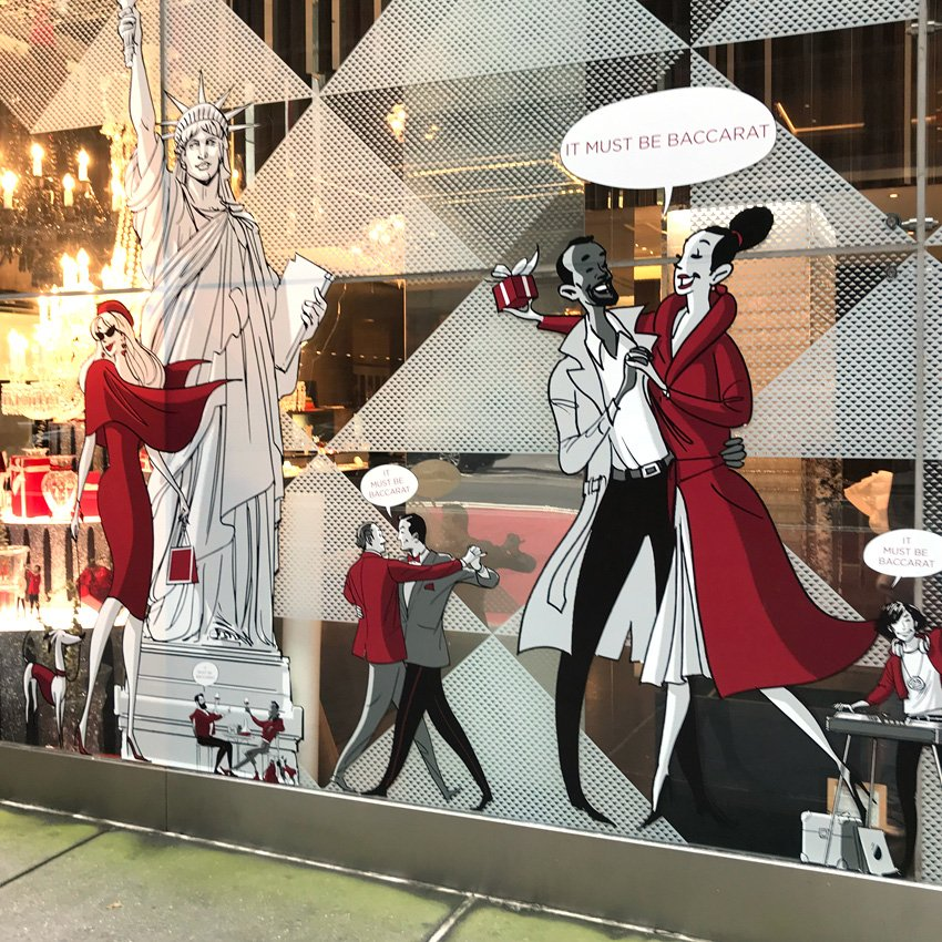 Baccarat Store Windows in New York